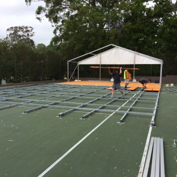 Marquee & Flooring construction