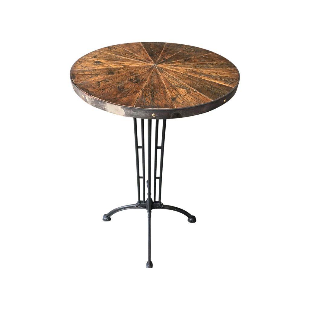Martini Table: Cocktail Bar Table Rustic/Vintage