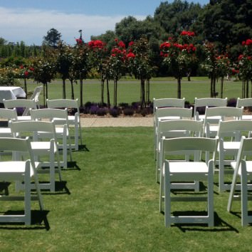 White Italian folding chairs